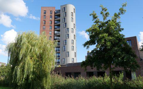 De toren bij het Diemer Plein
