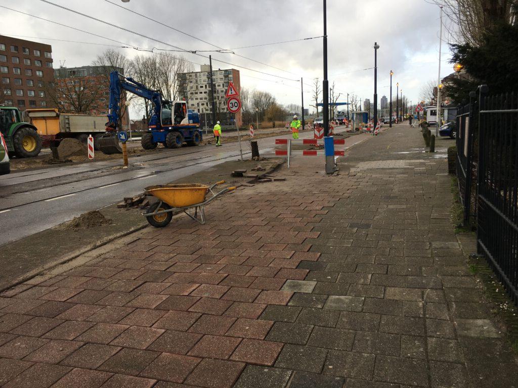 Hartveldseweg tijdelijke oplossing voor fietsers en voetgangers
