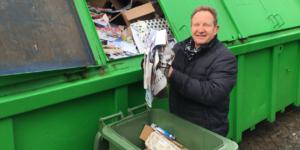 Papiercontainer verdwijnt
